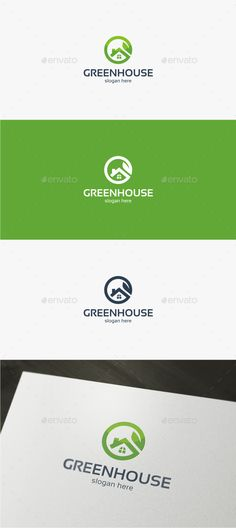 Green House Logo Design Template Vector #logotype Download it here: http://graphicriver.net/item/green-house-logo-template/11944093?s_rank=1324?ref=nesto