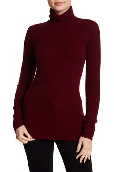 Cashmere Rib Turtleneck Sweater  by Sofia Cashmere on @nordstrom_rack