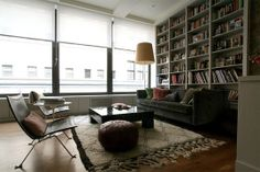Articles about collection/living room on Apartment Therapy, a lifestyle and interior design community with tips and expert advice on creating happy, healthy homes for everyone. Industrial Living, Extra Seating, Home And Living, Living Rooms, Living Spaces, Apartment Therapy, House Tours, Home Accessories, Sweet Home