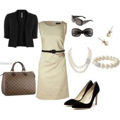 sheath stylin #6 - can never go wrong with pearls