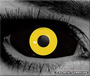 Gothika Hallow Sclera contact lenses - Lose your connection to the living world with these diabolical, yellow & black FX contacts.  These eyes will add to the chilling effect of this anime character.