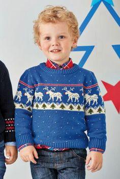 Buy Cobalt Reindeer Fairisle Pattern Jumper (3mths-6yrs) online today at Next: United States of America