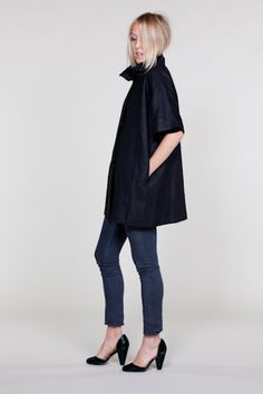Black Topper Coat by Emersonmade.  Can we say sheik?! Going into covet mode....:-)