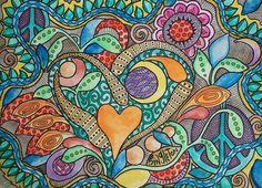 Neon Love Crush, Singleton Hippie Art Original