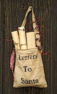 KP Creek Gifts - Letters To Santa Bag