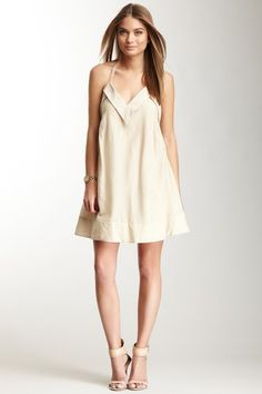 Twenty8Twelve Embroidered Cotton & Silk Blend Dress on HauteLook...totally pinned b/c of the shoes!