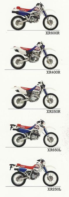 1990's- Honda XR Line-up Ad