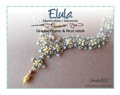 Peyote and Picot Stitch Necklace Beading Tutorial by Studio183, $14.00