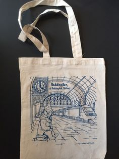 Paddington Bear Tote Bag Train Station Dark Peru Union Jack Ping England Uk Ebay