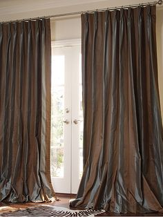 Pure Silk Lined Sari Curtains $161.99