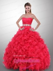 8efc56c087c 2012 Hot Strapless Beaded Ruffled Rose Pink Dress for Quince - Quinceanera  100. See More. http   www.quinceaneramart.com Exclusive-Quinceanera-Dresses.