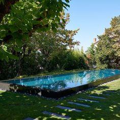 Une piscine avec la nature pour écrin
