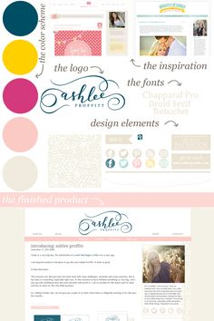 Ashlee is a graphic designer that I have been working with since May (she had a baby during that time! This lady is brave.) She came to me with a beautiful logo designed by Melissa Esplinand a gr...