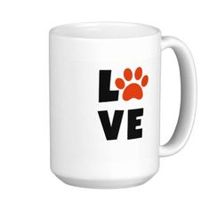Pawprint Love Mug!  Show your love of your furry friends with this cute mug! Perfect as a gift for that dog or cat person in your life!