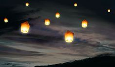 sky lanterns for Luke's memorial service