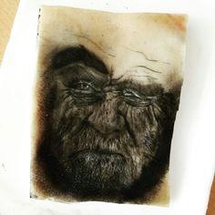 Old man portrait tattoo