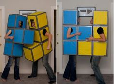 It also works great as a couple's costume. | 33 Super Easy Cardboard Box Halloween Costumes For Lazy People
