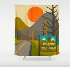 Twin Peaks Shower Curtains