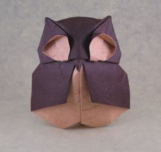 Origami da coruja por Federico Scalambra dobrado por Gilad Aharoni
