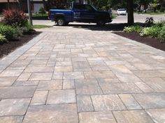 Adding a 3 large size pavers and a different colour soldier course added interest to this project and helped this house standout! www.lakeridgecontracting.ca