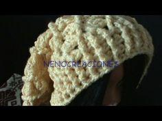 Gorro Boina Slouchy Adulto Ganchillo, Crochet Slouchy Beret 2 de 2 DIY