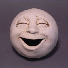 Singing Moon Garden Head Antique White/Eggshell by thefunnything, $60.00
