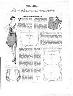 La Femme de France 1921/10/02 This pattern in English means Graceful Panties!