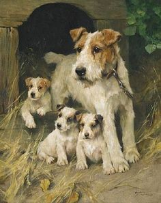 """A Family Affair"" by Arthur Wardle (1860-1949), English Artist who specialised…"