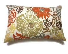 Two decorative throw pillow covers measuring 16 inch. Description from etsy.com…