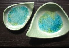 Set of TWO Leaf spoon Rests by ShoeHouseStudio on Etsy, $12.00
