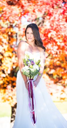 ribbon and lace on bouquet