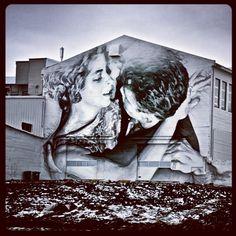 Two #lovers #entwined #streertartisthebestart #streets #reykjavik #iceland #winter