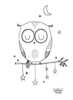 on the branch – the chosettes – découvrez noel Doodle Art, Owl Doodle, Doodle Drawings, Easy Drawings, Desenho Kids, Doodles, Doodle Inspiration, Illustration, Colouring Pages