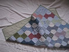 Upcycled Shirts Bowtie Baby Quilt
