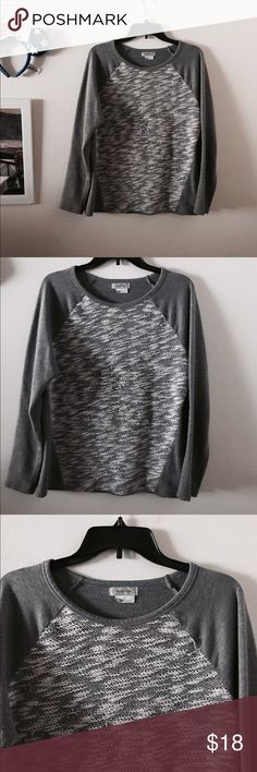 Knit chunky sweater marled Euc adorable and perfect for winter and cold weather Van Heusen Sweaters Crew & Scoop Necks