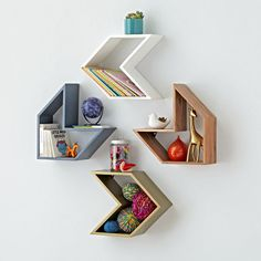 Shop Arrow Shelf. Follow our Arrow Wall Shelf to a more stylish and organized home. The unique design lets you combine multiple pieces to create your own one-of-a-kind wall storage.