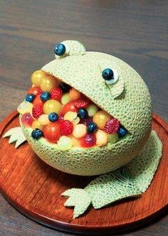 Such a fun way to serve fruit salad!
