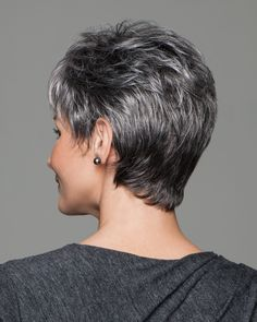 Terrific Photos Haircut types face shapes Suggestions , Try it tousled or tailored. This versatile cut has the built-in motivation of easy styling. Short Hairstyles Fine, Short Pixie Haircuts, Wig Hairstyles, Short Dark Hair, Short Hair With Layers, Short Hair Cuts, Gabor Wigs, Monofilament Wigs, Fine Hair