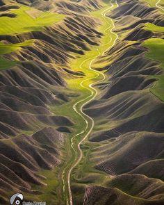 Kalale, Golestan Province, Iran (Persian: جاده زیبای زیارتگاه و گورستان خالد نبی - کلاله - گلستان) Credit: amin.hazini