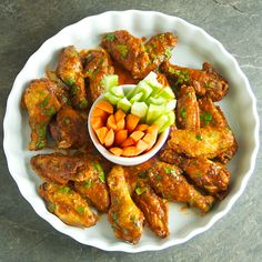 Spicy Sriracha Chicken Wings - Oui, Chef