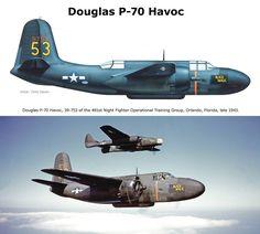 Douglas P-70 Havoc 481st Night fighter Operational training Group Orlando Florida 1943 Aviones Caza, Aviones Militares, Aviones De Combate, Comprar Pasajes, Pasajes Aereos, Tropas, Vuelos, Arte Militar, Volar