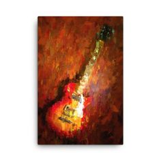 """Beautiful """"ELECTRIC GUITAR by Vart"""" metal poster created by vart . Our Displate metal prints will make your walls awesome. Print Artist, Cool Artwork, Canvas Art Prints, Trees To Plant, Poster Prints, Posters, Original Artwork, Electric, Guitar"""