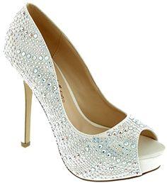 Open Peep Toe Dressy High Heel Sequin Pumps Frozen Elsa Shoes
