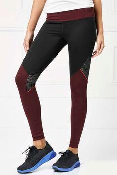 Buy Berry Colourblock Technical Full Length Leggings from Next Netherlands