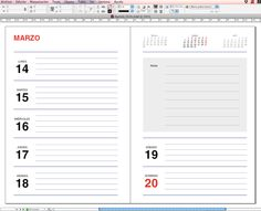 Plantilla Agenda 2016 para imprimir gratis