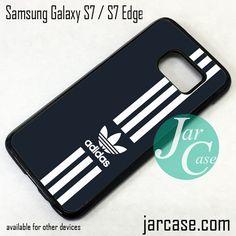 Black Straight Adidas Phone Case for Samsung Galaxy S7 & S7 Edge