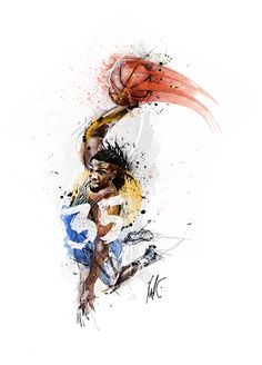 Artist Chris Slabber created this Kenneth Faried commissioned piece with the aim of conveying the Manimal's intensity.