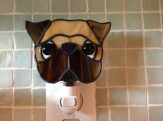 Hey, I found this really awesome Etsy listing at http://www.etsy.com/listing/156073573/stained-glass-pug-night-light