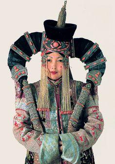 A Woman in a Khalkha Ethnic Costume - Mongolia