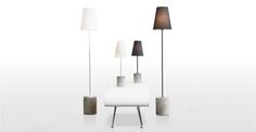Ira, un lampadaire, gris Harrier White Floor Lamp, White Table Lamp, Modern Floor Lamps, Concrete Light, Concrete Lamp, Concrete Floor, White Concrete, Narrow Bedside Cabinets, Free Standing Lamps